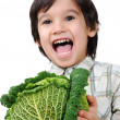 Healthy boy kid with food — Stock Photo #6150647