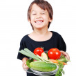 Boy with vegetables in hands — Stock Photo #6150667