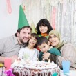 Stock Photo: Birthday, happy Muslim family