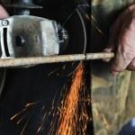 Metal sawing close up — Stock Photo #6150803