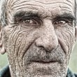 Closeup portrait of old man - Stock Photo