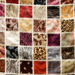 Various types of fabric background, oriental ornament — Stock Photo