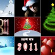 Merry Christmas and Happy New Year collection — Stock Photo