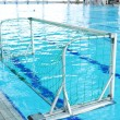 A swimming pool is set up for a water polo competition — Stock Photo