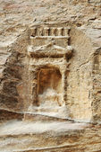 Ancient artifact godness tomb in Petra — Stock Photo