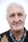 Portrait of an Old smiling Man — Stock Photo