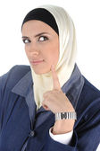 Muslim beauty woman thinking — Stock Photo