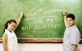 Class on board writing: GREAT COPYSPACE for you — ストック写真