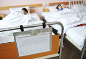 Ill child in hospital — Stock Photo