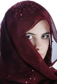 Arab teenager female isolated on a white background — Stock Photo