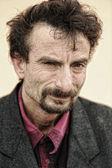 Portrait of rough face man, hispanic, latin — Stock Photo