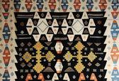 Oriental geometric carpet — Stock Photo