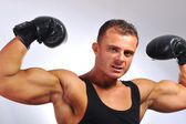 Bodybuilder strong as a rock — Foto Stock