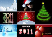 Merry Christmas and Happy New Year collection — Stockfoto