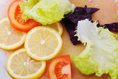 Fresh vegetables background — Stock Photo
