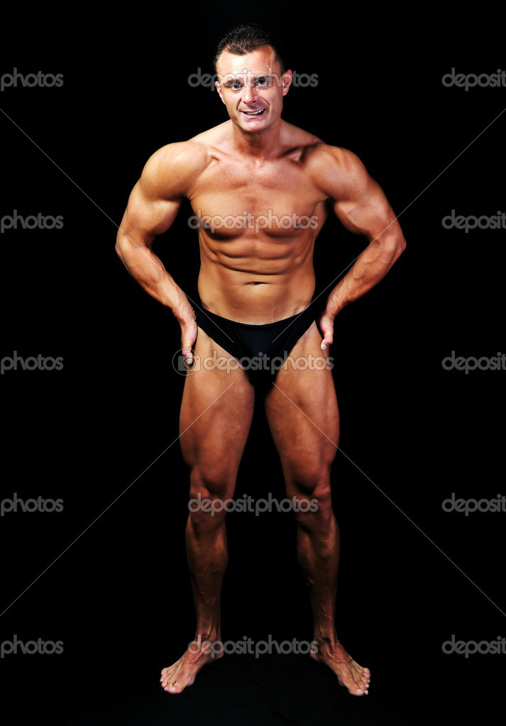 The Perfect male body isolated, bodybuilder performance  — Stock Photo #6150279
