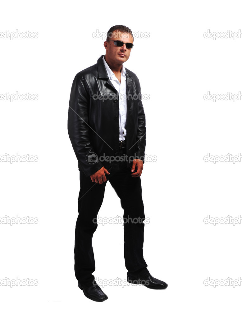 Macho sexy man with jacket — Stock Photo #6150735