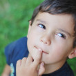Thinking child — Stock Photo
