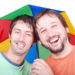 Two men laughing — Stock Photo