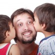 Lovely father and two sons — Stock Photo