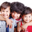 Two cute kids and girl — Stock Photo #6187586