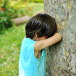 Kid hiding — Stock Photo #6187890