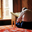 Prayer in mosque, reading Koran — Photo