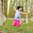 Little girl in nature — Stock Photo