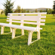 Stock Photo: White chair in park, no