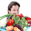 Doctor with healthy food — Stock Photo #6187932