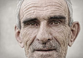 пожилые, старые, пожилые мужской портрет — Стоковое фото