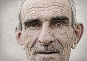 äldre, gamla, mogen man porträtt — Stockfoto
