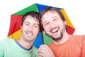 Dwóch mężczyzn śmiejąc się — Zdjęcie stockowe