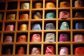 Ties on shelves — Stock Photo
