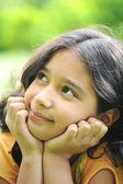 Beautiful girl thinking — Stock Photo