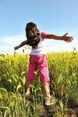 Mozione sul prato verde in natura — Foto Stock