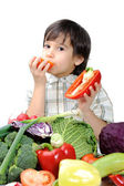 Healthy food, cute kid — Stock Photo