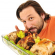 Prepared chicken, yummy! — Stock Photo #6212681