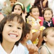 Стоковое фото: Large group, crowd, lot of happy children of different ages, summer outdoor