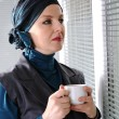 Confident and beautiful european Muslim woman — Stockfoto