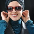 Confident and beautiful european  Muslim woman — Stock Photo