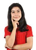 Nice schoolgirl with black hair — Stock Photo