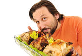 Prepared chicken, yummy! — Stock Photo