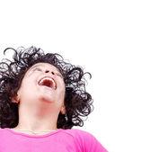 Garota da risada — Fotografia Stock