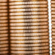 Golden coins background - Stock Photo
