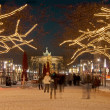 Berlin brandenburger tor christmas - Stock Photo