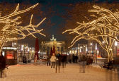 Berlin brandenburger tor christmas — Stockfoto