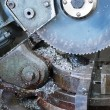 Industrial metal saw - Stock Photo