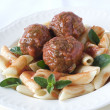 Pasta Meatballs — Stock Photo