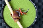 Creamy peas soup — Stock Photo